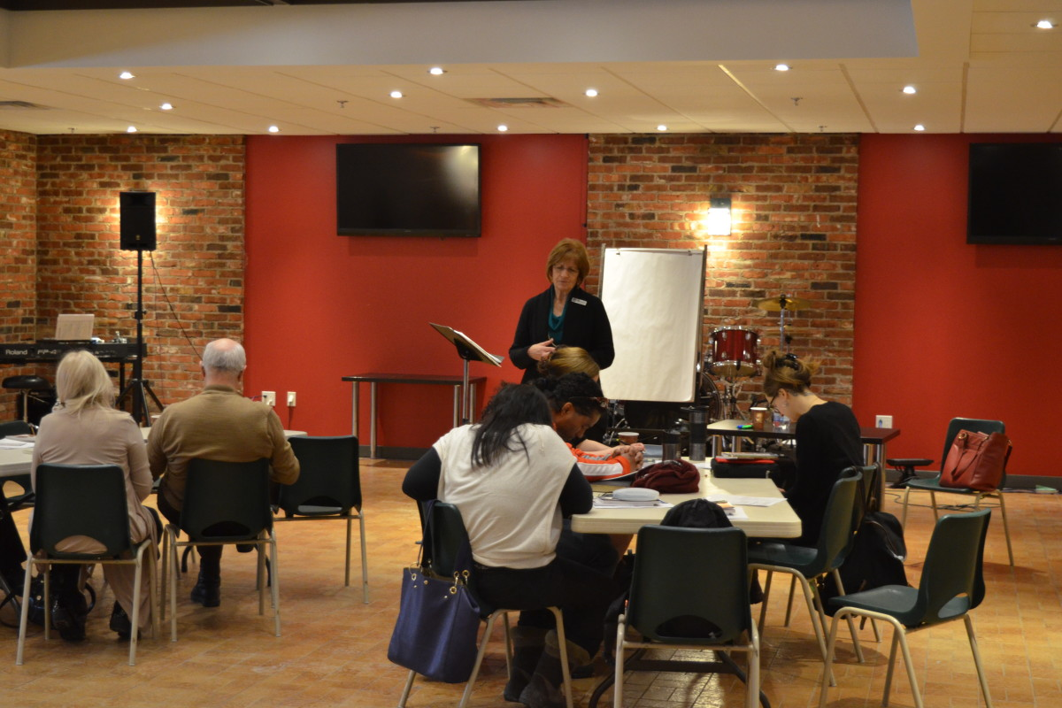 Sharon teaching the workshop in Montreal